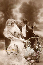 Romantic Wedding Couple - New 4x6 Vintage Image Photo Print - CP042