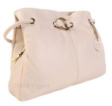Gigi Othello Leather Ivory 3 Section Shoulder Handbag Best Seller 4323
