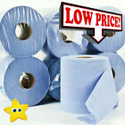 12 rolls Blue Centre feed Rolls Embossed 2ply Wiper Paper Towel Kitchen Roll