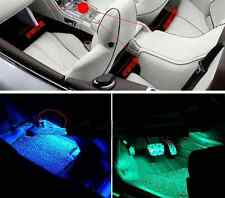 Universal Blue 4x3 LED Car Accessories Floor Decorative Atmosphere Lamp Light
