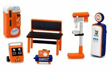 1:64 GreenLight *HOBBY EXCLUSIVE* GULF OIL THEMED 6pc TOOL ACCESSORY PACK *NIP*
