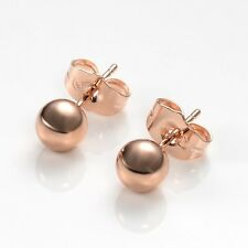 Hot Gift 18k Rose Gold Filled Charms Earrings GF Lady Earstud Fashion Jewelry