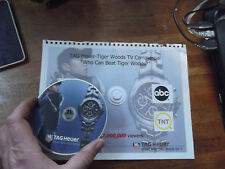 Tag Heuer TV Ad DVD on Original CO-OP Book page 2004 RARE