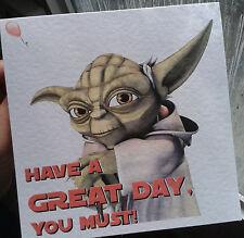 Star wars yoda carte d'anniversaire style 3-comme c'est, ou personnalisée.
