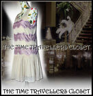 Topshop Vintage Gatsby Flapper Dress 20s 30s Jazz Cream Lilac Lace Lined UK12 14