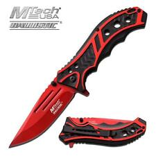 Mtech Ballistic Series Red / Black Spring Assist Assisted Knife #A907RD