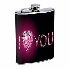 Diamond Scenes Flask D5 8oz Stainless Steel Girls Best Friend Are Forever