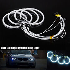 4X Faros CCFL ANGEL EYES anillos de LED luz Blanco frío Faro para BMW 3 5 Series