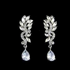 Sequin cristallo marquise Dangle Earrings Orecchini a Goccia Strass da Sposa