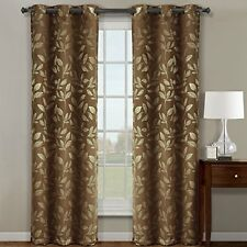 "Claire Cafee Grommet Blackout Weave Jacquard Window Curtains 72""W x 84"" L (Pair)"
