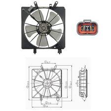 Radiator Fan Assembly Engine Cooling Fits: 2001 - 2005 Honda Civic L4 1.7L