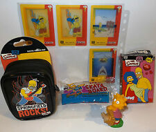 THE SIMPSONS : CAMERA CASE, FIGURES, TRADING CARDS BUNDLE. (TK) & (SC)