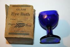 Vintage/Antique Cobalt Blue Glass Eye Bath Apothecary Medical Boots Chemist Old