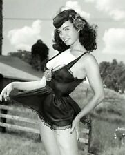 Bettie Page Black Neglige Portrait 5 x 7 Photograph