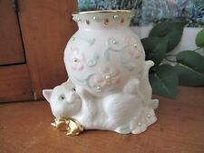 Lenox Petals and Pearls Kitten Vase ~ Giftware Collection ~ c. 2007-2013