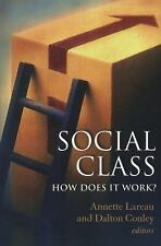 Social Class: How Does It Work? (National Poverty Center Series on Poverty and P