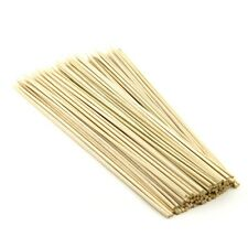 100 x 12inch WOODEN BAMBOO SKEWERS STICKS FOR KEBAB, BBQ, PARTY, FRUIT STICKS