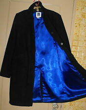 Gap NWOT BLACK Wool/Cashmere Mid-weight WINTER COAT ~ 4-button, Flap-pockets ~ M