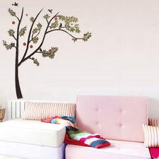 Wandtattoo Baum Ast XXL Vögel Tiere Blumen Wand Wandsticker 130x130cm Deko b1