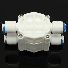 """1/4"""" 4 Way Auto Shut Off Valve Quick Connect RO Reverse Osmosis Filter System"""