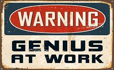 Laptop Computer Vinyl Skin Cover Warning Genius at Work Sticker Graphic Label