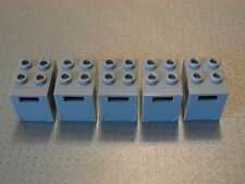 LEGO - 5 GRIGIO Container / Palo / caselle di posta elettronica 2x2x2 (4345 4346)