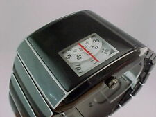Anni'60'70 insolito futuristica SPACE AGE RARE OLD STYLE MODERNO DISC DISK Watch 8