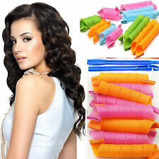 Fashion 18Pcs Hair Rollers DIY Curlers Magic Circle Twist Spiral Styling Tools