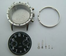 S.STEEL CASE TYPE 20 DIAL AND HANDS FOR VALJOUX 7734 DIAMETER 38MM