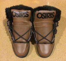 Osiris NYC 83 Shearling Size 6.5 Brown Black BMX DC MOTO Skate Shoes $85 Box