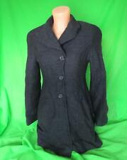 Ladies Karen Millen designer pea coat, size UK 8 36, black wool, work, J071