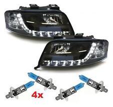 SCHEINWERFER schwarz + 4x Xenon-Look Lampen H1 55W AUDI A6 4B C5 97-00 TFL-Optik