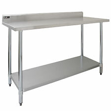 Commercial table 5FT cuisine en acier inoxydable prep work bench catering surface