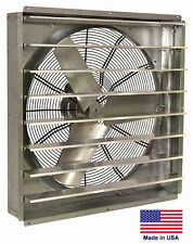 "EXHAUST FAN Commercial - Direct Drive - 30"" - 1/2 Hp - 115V - 1 Spd - 6,800 CFM"