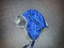 IGNITE KID'S NYLON TRAPPER WINTER HAT -BLUE -1SFM-NWT