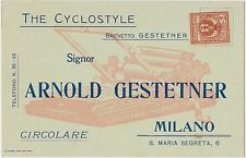 MILANO - THE CYCLOSTYLE - BREVETTO GESTETNER