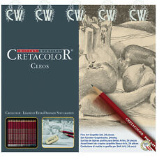 Cretacolor Cleos Fine Artists Graphite Pencil Tin Set of 24 Grades 9B to 9H