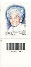 2013 francobollo Rita Levi Montalcini SX CODICE A BARRE 1547