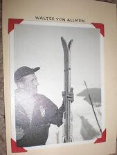 Old photograph skiing Walter Von Allmen Switzerland c1950s