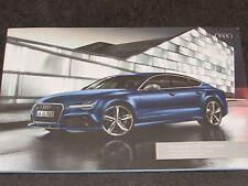 AUDI RS7 Sportback - UK 2015 - 66 page Colour Car Range Brochure Spec Booklet