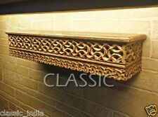 "Wooden ✿ Wall Bracket Shelf Carved Shelve Mughal Work 24x5"" ✿ Antique Home Decor"
