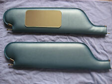 1966-67 chevelle SS convertible sun visors with vanity mirror light blue