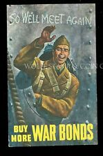 World War II Patriotic Postcard Buy More War Bonds B3690