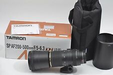 MINT- BOXED TAMRON USA SP AF 200-500mm f5-6.3 Di LD FOR SONY ALPHA, CASE, HOOD