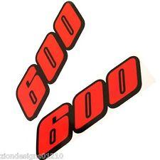 600 gsxr srad  motorcycle decals custom graphics stickers x 2 Orange