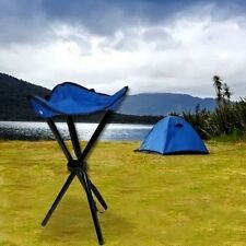 Folding 3 Leg Steel Tripod Stool Camping Festival Picnic Fishing Chair