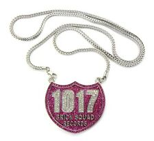 "ICED OUT 1017 BRICK SQUAD PENDANT-1 & 36"" FRANCO CHAIN"