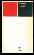 DOBB MAURICE I SALARI  EINAUDI 1965 PBE 54 SINDACALISMO