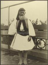 Greek Soldier 1911 Greece Traditional Dress 7x5 Inch Reprint Photograph