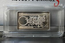1990 Singapore Mint's 25th Anniversary - $25 Orchid Silver Ingot